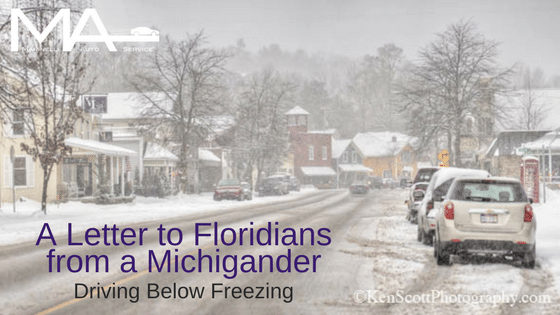 A Letter to Floridians: Driving in the Cold