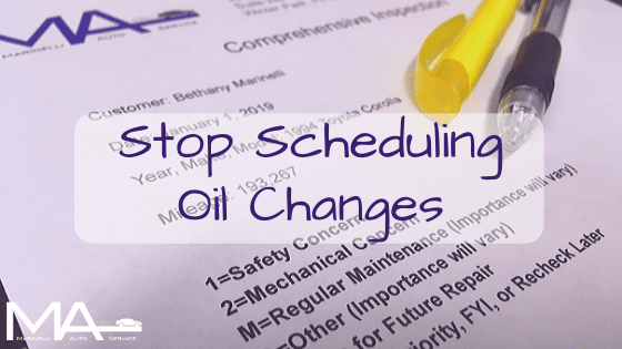 Stop Scheduling Oil Changes
